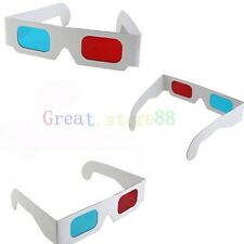 5 Pairs Red Blue Cyan 3D Dimens Anaglyph Glasses Glass for movie DVD Game Phone