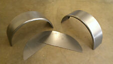 "PAIR of Steel Trailer Fenders Single Axle w/back 9""x32"" Round Style"