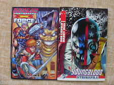 2 Comics, Youngblood Strikefile y Youngblood Force, número 1 de 2, Rob Liefeld