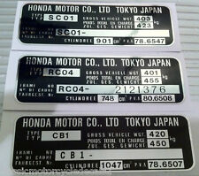 HONDA CBX 1000 CB900F CB750F HEADSTOCK FRAME DECAL RESTORATION DECAL