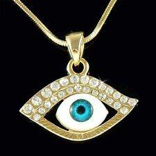 Con Cristal Swarovski Judío Judaísmo ~ Gp Evil Eye ~ Nazar Protección Collar