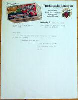 Catawba Candy Co. 1930 Color Letterhead w/Cow - Sandusky, Ohio OH