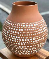 """RARE 13"""" IKEA Hella Jongerius 2005 Africa Jonsberg Art Terra Cotta Pottery Vase"""