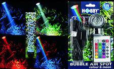 Aquarium Deko 🍀 LED BELEUCHTUNG SPRUDLER ✚ FERNBEDIENUNG 🍀16 Farben Zubehör (V