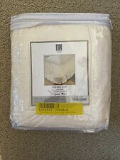 Crinkle Ivory One Bed Skirt | Size King