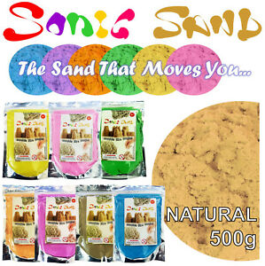 Sonic Sand 500g Bags Mould & Play Magic Motion Crazy Never Dry Dough kinetic Kid