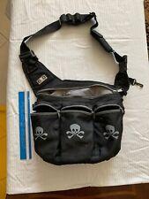 Diaper Dude Cross Body Bag Diaper Bag Black Comfort Strap Logo B18