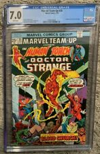 MARVEL Team-Up #35 6/75 Human Torch Doctor Strange CGC 7.0 WHITE Pages