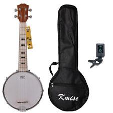Kmise Concert Banjo Ukulele 4 String Ukelele Uke 23 Inch Maple W/Gig Bag Tuner