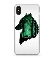 Green Wolf Painting Enchanted Mystical Spooky Forest Effect Phone Case Cover
