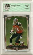 2014 Topps Chrome Rookie Card #185 Mike Evans PGI 10