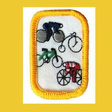 CYCLING Girl Scout Interest Project Patch Badge Combine Ship NEW Bicycle 1980s