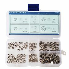 Hex Nut Assortment Kit Stainless Steel M2 M2.5 M3 M4 M5 M6 Pack of 120-piece