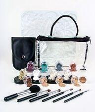 Starter Kit Foundation Face Powder Brush Set 20pc Mineral Makeup LT & DK Tans