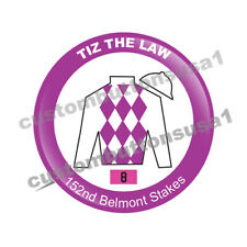 TIZ THE LAW BUTTON - WINNER - 152ND BELMONT STAKES - HORSE RACING TRIPLE CROWN