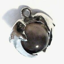 10 pieces Silver Plated Cat Eye's Glass Charm Pendants - A8216