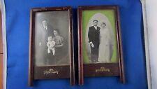 paire d ancien petit cadre porte photo en bois a poser  epoque 1900