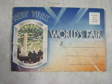 Vintage Antique 1939-40 New York Worlds Fair Perisphere Postcards Booklet NOS