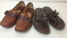 Lot of 2 pairs of Born Genuine Leather Shoes Size 7 Slip On Good Used Condition