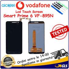 TOUCH SCREEN VETRO + LCD DISPLAY PER Alcatel Vodafone Smart Prime 6 VF-895N Nero