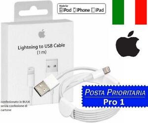 Cavo DATI ORIGINALE Lightning Usb Per Apple iPhone 8 e 8 plus