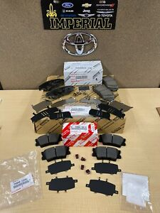 2018-2021 TOYOTA CAMRY GENUINE OEM FRONT & REAR BRAKE PADS WITH SHIM KIT