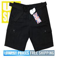 Revolution 1688 Men's New W/ Tags 6-Pocket Cargo Shorts in  BLACK SIZE 38