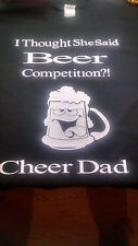 Cheer Shirt, Beer Competition, Cheerleading, Cheer Dad, Cheer Mom