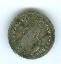 SWITZERLAND 1881 1/2 FRANC--CIRCULATED--SILVER