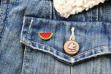 Watermelon badge pin - red enamel watermelon fruit pin brooch lapel badge