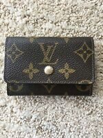 Authentic Louis Vuitton Porte Monnaie Plat Monogram Brown Coin Purse 4in x 3in