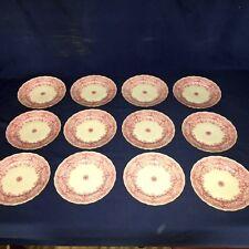 """12 Antique FURSTENBERG china ~ Park Lane Pink 7 3/4"""" Salad Plates ~ Excellent"""