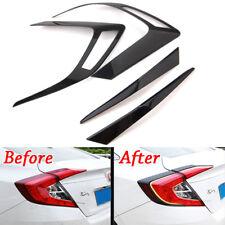 For Honda Civic 10th 16-2018 Rear Light Tail Lamp Cover Trim Carbon Fiber Style