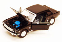 1964 1/2 Ford Mustang Black Showcasts 73273 1/24 Scale Diecast Model Toy Car
