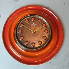 Traumhafte 60er Jahre Junghans electronic Wanduhr 70s wall clock Ato Mat orange