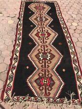 1980s Vintage Handmade Turkish Area Rug - Runner