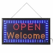 Super Bright Motion Led Business Sign Shop Store Open Coffee Club Display Light