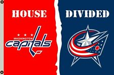 Washington Capitals VS Columbus Blue Jackets house divided flag 3x5ft banner
