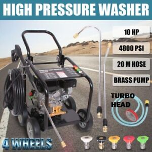 NEW BLACK JET 10 HP 4800 PSI  HIGH  PRESSURE WATER WASHER CLEANER 20M BRASS PUMP