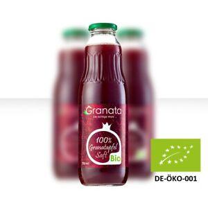 Bio Granatapfelsaft 9 Flaschen (á 0,75 Liter), DE-ÖKO-001, Granatapfel