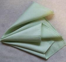 Hankie COTTON Pocket Square Handkerchief MENS Hanky PALE GREEN