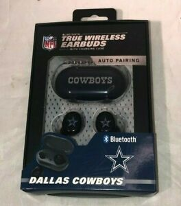 Official NFL Dallas Cowboys Bluetooth Wireless Earbuds New in Box