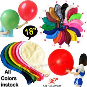 5X Round Latex Balloons 18 Inchs Wedding Decor Helium Big Large Giant Ballon UK