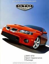2005 PONTIAC GTO MONARO A3 POSTER AD SALES BROCHURE MINT ADVERT ADVERTISEMENT