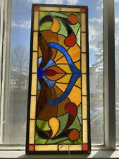 Handcrafted stain glass panel