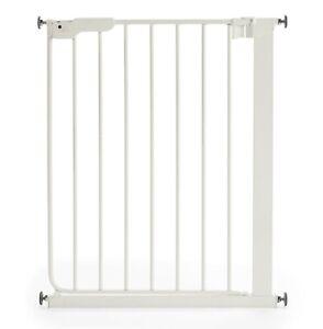 BabyDan Slim Pressure Fit Baby Safety Stair Gate Narrow White 63-69.5cm NEW