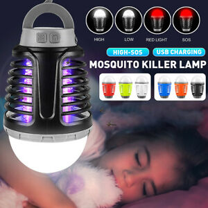 Bulb Mosquito Killer Fly Bug Zapper Household Camping SMD 2835 LED Nigh
