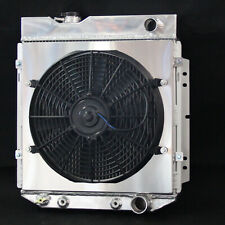 3 Row Fit Ford Mustang Comet Falcon V8 63-66 Aluminum Radiator with Fan shroud
