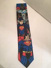 Vtg DC Comics Superman Tie 1996 Super Trio Man Of Steel Novelty Necktie Rare
