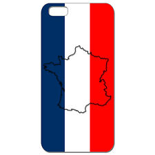Coque 3D Téléphone - Iphone 4/4S - Carte de la France Bleu Blanc Rouge